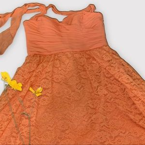 NWT Peach Formal Dress from Macy's Bridal